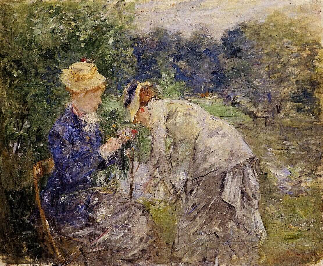 """Bolonės miške"" sukurta Berthe Morisot"